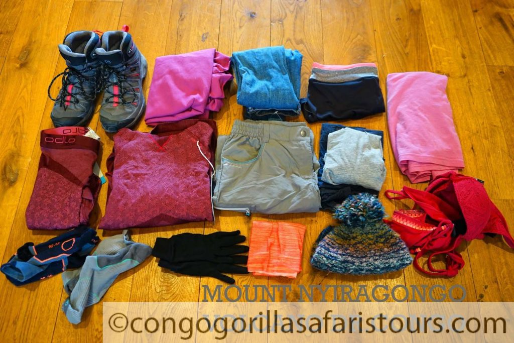 A sample of what to wear for a Congo gorilla trekking safari